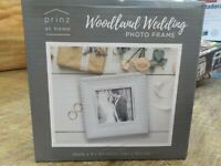 Prinz Woodland Wedding 4-Inch x 6-Inch Photo Frame in White