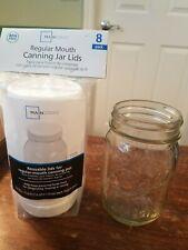 Mainstays Plastic Storage Caps Regular Mouth Canning Lids Reusable 4x 8pk
