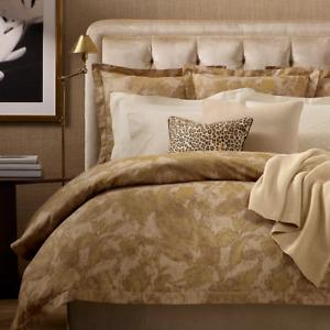 Ralph Lauren Home Weston Park Attley Paisley KING Comforter Cotton GOLD $430