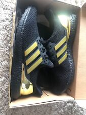 Adidas Ultra Boost Custum Black And Gold Climacool New Size 11