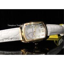 Invicta mujer 0052 lupa cuarzo 3 mano blanco esfera reloj