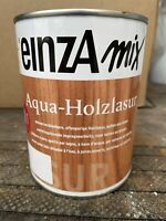 1 Liter Einza Mix Aqua Holzlasur Teak Farbton siehe Deckel Restposten
