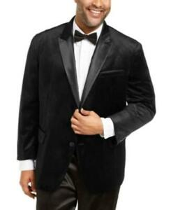 MSRP $190 Inc Men's Big & Tall Max Velvet Blazer Black Size 2XB