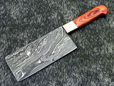 "Custom Handmade Damascus Steel Blade 11.0"" HARD WOOD Chopper Knife- WD-9041"