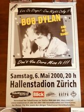 BOB DYLAN & HIS BAND MAY 6, 2000 ZURICH SWITZERLAND RARE ORIGINAL CONCERT POSTER