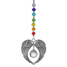 Crystal Chakra Angel Wing Pendant Prism Rainbow Suncatcher Window Home Decor