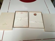 2 VINTAGE BOXED HALLMARK WRITING STATIONERY SETS,1 NEW HEARTS, FLOWERS