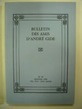 BULLETIN DES AMIS D'ANDRE GIDE N° 81 JANVIER 1989 VOL XVII - XXIIe ANNEE TBE