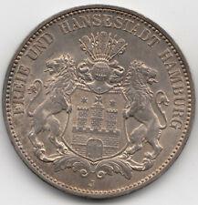 Münze 3 Mark 1914 J Silber Kaiserreich Freie und Hansestadt Hamburg Silver Coin
