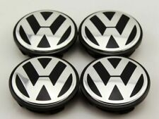 4 x 56mm VW LOGO BADGE EMBLEM WHEEL CENTER CAPS GOLF PASSAT TIGUAN  1J0601171