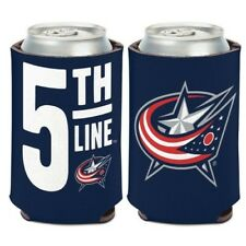 "COLUMBUS BLUE JACKETS ""5TH LINE"" NEOPRENE CAN COOLER COOZIE KOOZIE HOLDER"