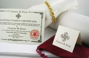 Jackie Kennedy Polished and Textured Bracelet w/ pouch/certificate/card