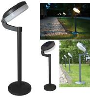 Luxform Montana Black Solar LED Garden Outdoor Driveway Bollard Light Lamp Post