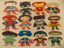 12 PRECUT edible wafer/rice paper superhero Babies cake/cupcake toppers