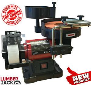 Lumberjack Bench Grinder Sharpener Wet & Dry with Adjustable Flow Rate Bath 250W