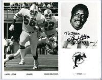 Autographed Larry Little 8x10 Photo NFL Miami Dolphins w/coa jh8x10