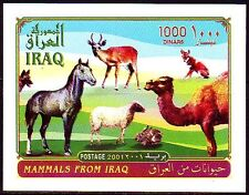 Irak Iraq 2001 ** Bl.95 Tiere Animals Gazelle Kamel Hase Camel Pferde Horses