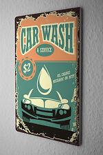 Tin Sign Vintage Car car wash