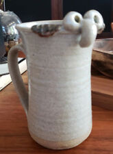 "32oz Big Handmade Stoneware ""Kilroy Was Here"" Funny Ugly Face Cup Mug 3D Stein"