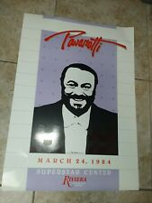 "Pavarotti Poster Riviera Hotel & Casino March 24th 1984 28"" X 20"""