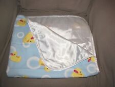 SOOTHYS BABY EMPORIO BLUE RUBBER DUCK DUCKIE BLANKET COTTON FLANNEL SATIN BUBBLE