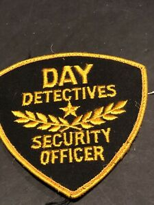 DAY DETECTIVES SECURITY OFFICER ~ STAR PATCH ~ Cool Name