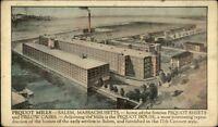 Salem MA Pequot Mills c1910 Postcard