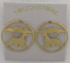 Afghan Hound Jewelry Gold Post Earrings by Touchstone Dog Designs