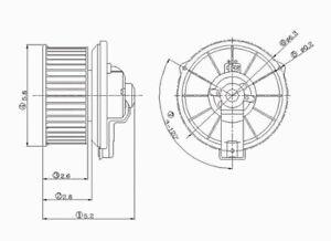 HVAC Blower Motor Front TYC 700009