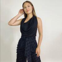 Helmut Lang Drape Asymmetrical Sleeveless Top Women's Size XS
