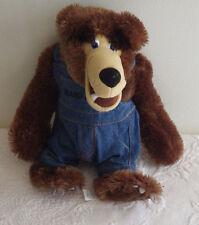 "Grizzly Jacks Jacks's Grand Bear Resort Overalls 13"" Stuffed Animal Plush"