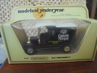 MATCHBOX MODELS OF YESTERYEAR - Y-12 1912 FORD MODEL T - CAPTAIN MORGAN
