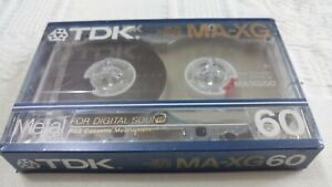 CASSETTE TAPE NEW sealed - TDK MA-XG 60 [1986] - made in Japan - TOP METAL Grial