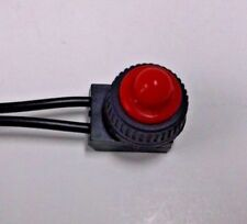 BBT Waterproof Low Profile 12 volt Red Push Button On/Off Switch for RVs