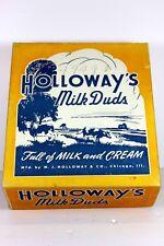 "HOLLOWAY'S MILK DUDS - 1940's BOX "" Full of MILK and CREAM "" Chicago, Illinois"