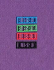 New listing Word Scalloped Blessed die cuts scrapbook cards