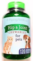 Hip & Joint for Dogs Cats Pets 120 Chewables Glucosamine MSM Manganese Vitamins