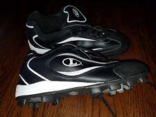 Louisville Slugger Men's Diamond Thunder III Cleats - 8.5 - Black - NEW - Molded