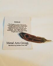 Sterling silver Metal Arts Group Native Jewelry Signed R Hewson Feather Eagle