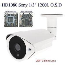 """SUS-3S1283  HD1080 1200L Sony 1/3"""" 2MP 3.6mm Lens 36IRx0.5mm Weatherproof  O.S.D"""