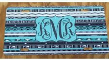 Monogram License Plate Aztec Mint Personalized Car Tag New