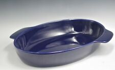 "Chantal Stoneware Indigo Blue Modern Xl Oval Lasagna Pan Or Baker 11"" By 16"""