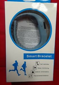 FITNESS TRACKER Smart Bracelet: Monitors Steps, Calories & More! - Blue-Gray