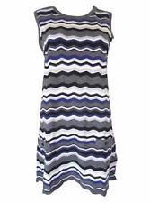 Atmosphere Round Neck Striped Mini Dresses for Women