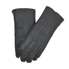 Herbst//Winter Lederhandschuhe Wildleder echt Leder Handschuhe gefüttert Cognac