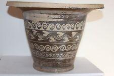 ANCIENT GREEK POTTERY KALATHOS 4th CENTURY BC WINE CUP