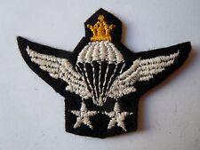 Insigne patch Brevet Parachutiste Perse N°4 rare original persian wing para
