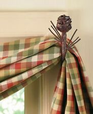 Pinecone Iron Curtain Hook Set by Park Designs - Pine Cone Curtain Hooks