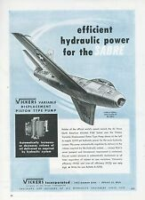 1951 Vickers Pump Ad North American Aviation F-86 Sabre Jet Fighter F-86E