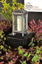 Grablampe   Grablaterne   Grabschmuck   Grab   Grablicht Aluminium Silber >NEU<